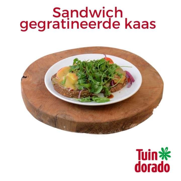 Sandwich gegratineerde kaas - Tuindoradocafé