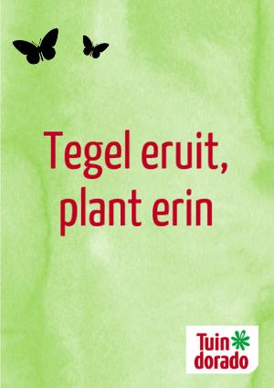 Tegel eruit, plant erin - Tuindorado